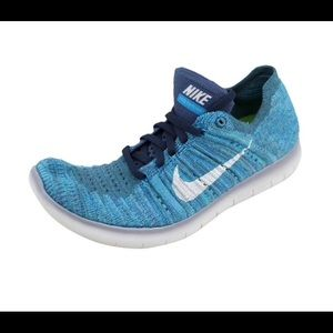 Nike Free Fly Knit Tennis Shoe In Ocean